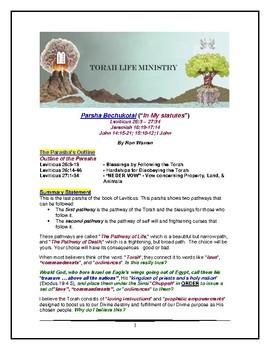 Torah Portion - Leviticus - Bechukoshi - Tenth of Ten