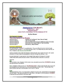 Torah Portion - Leviticus - Behar - Ninth of Ten