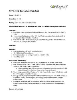 TorchPrep - ACT Math/STEM Activity Based Curriculum
