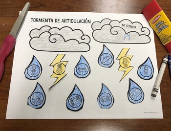 Tormenta de Articulación: A Speech Therapy Craft Activity (Español)