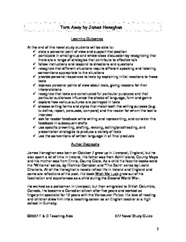 Torn Away Novel Study Guide