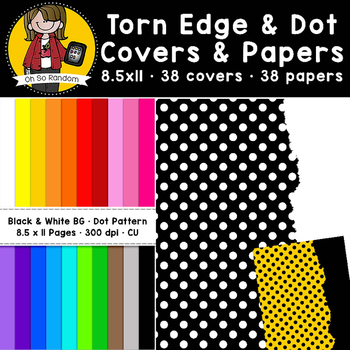 Torn Edge & Polka Dots Papers (CU)