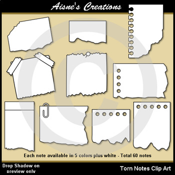 Torn Notes Clip Art