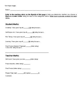 Torn Paper Images Marking Sheet