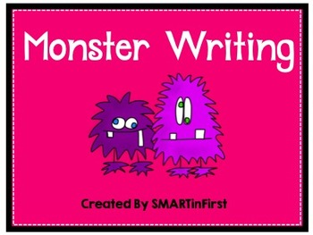 Torn Paper Monster Writing Activity