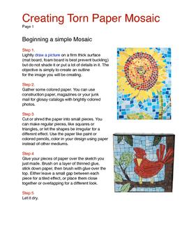 Torn Paper Mosaics