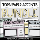 Torn Paper Slide Accents - Digital Paper Backgrounds & Cli