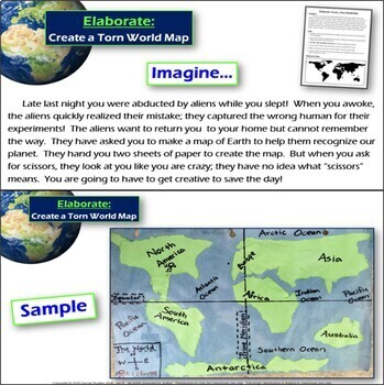 Torn world map activity continents and oceans by social studies stuff torn world map activity continents and oceans gumiabroncs Images