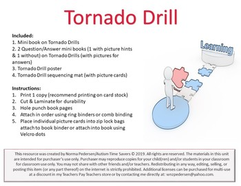 Tornado Drill Activity & Worksheets | Teachers Pay Teachers