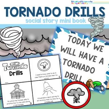 Tornado Drill Social Story Mini Book Set