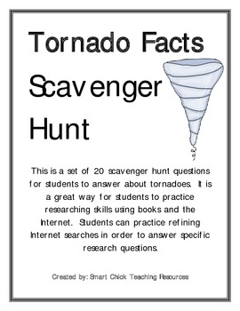 Tornado Facts Scavenger Hunt Activity and KEY