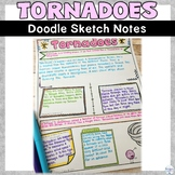 Tornado Natural Disaster Wild Weather Sketch Note Activity