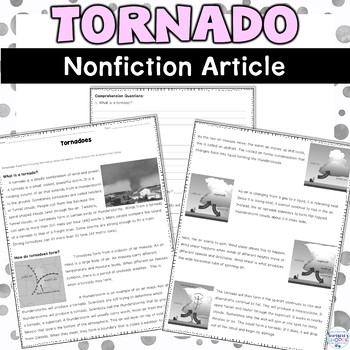 Tornado Nonfiction Article and Activity