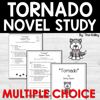 Tornado Novel Study Multiple Choice Comprehension