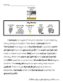 Tornado Passage with Questions and Sequencing ESL ARABIC and ENGLISH