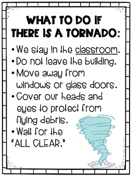 Tornado Safety Sign
