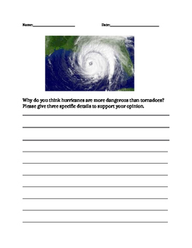 Tornado vs hurricane fact sheet