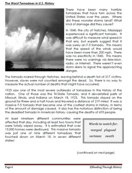 Tornadoes: 5th Grade Reading Prep
