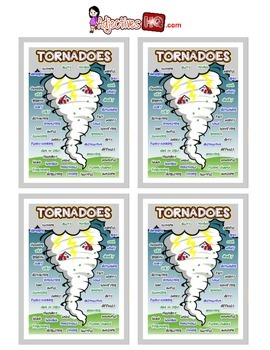 Tornadoes Adjective Poster