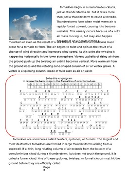 Tornadoes: Content Reading and Activities and Assessments.