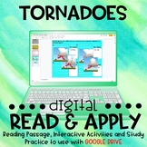 Tornadoes DIGITAL Read and Apply for Distance Learning