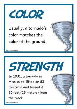Tornadoes Fact Cards