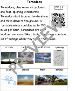 Tornadoes: Informational Text and Writing Activity