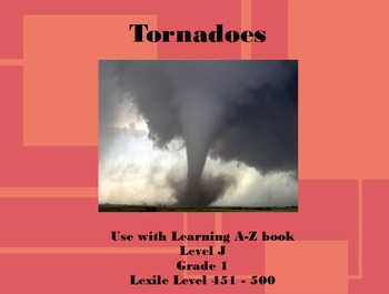 Tornadoes Lesson Flipchart from Learning A-Z Book