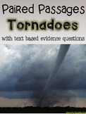 Tornadoes Paired Passages with Text Based Evidence Questions