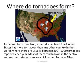Tornadoes PowerPoint Distance Learning
