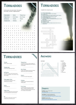 Tornadoes - Puzzles & Glossary