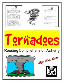 Tornadoes Reading Comprehension Activity