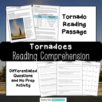 Tornadoes Reading Comprehension with Differentiated Questions