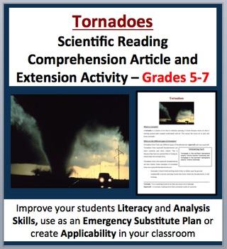 Tornadoes - Scientific Reading Comprehension Article – Gr