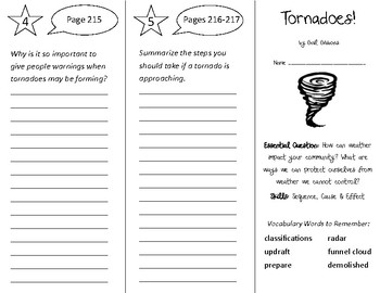 Tornadoes Trifold - Open Court 3rd Grade Unit 2 Lesson 3
