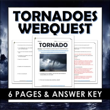 Tornadoes - Webquest and Answer Key