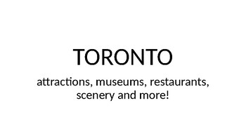 Toronto Attractions & Things To Do