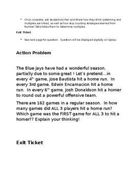 Toronto Blue Jays Three Part Math Lesson