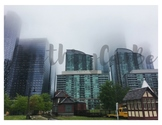 Toronto City Foggy Skyline