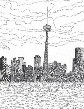 Toronto Skyline Colouring Activity