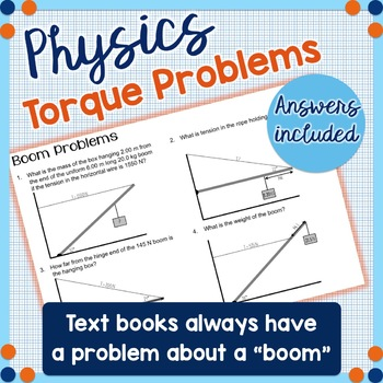 "Torque Problems - ""Boom Problems"" - Physics"