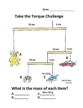 Torque Worksheet: The Teddy Bear Challenge | TpT
