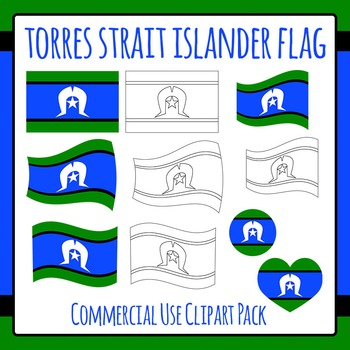 Torres Strait Islander Flag Clip Art for Commercial Use