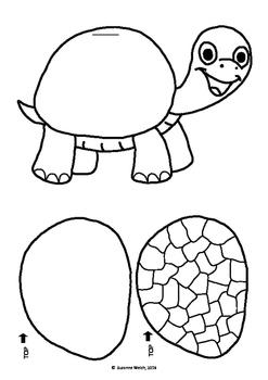 ESIO TROT by Roald Dahl  -  Tortoise Flip Book Template