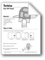 Tortoise Paper Mitt Puppet