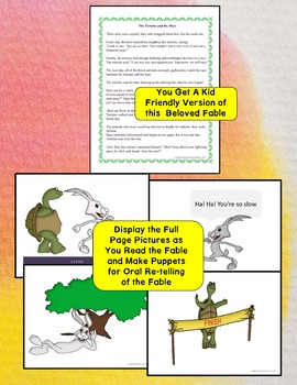 The Tortoise and the Hare Aesop's Fable Sequencing and Literacy Activities