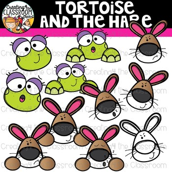 Tortoise and the Hare Clipart {Reading Clipart}