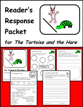 The Tortoise and the Hare - FREE Fable Reading Response Packet