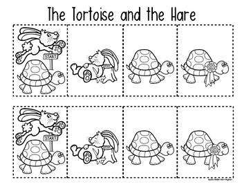 Tortoise & the Hare {Retelling a Story} Storyboard & Character Folktale Fun!