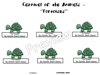 Tortoises from Carnival of the Animals (Finger Puppets)